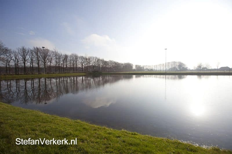 De ijsbaan in Oldekerk